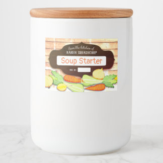 chicken soup starter vegetable home canning label