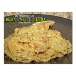 Chicken Spaghetti Alfredo Postcard
