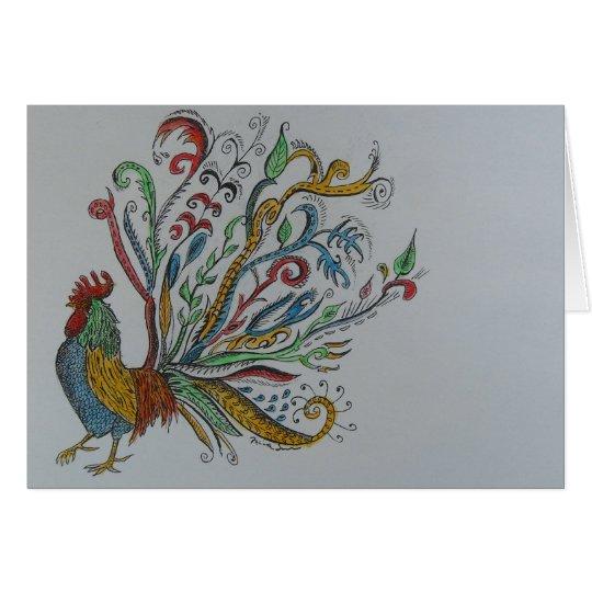 chicken tree card