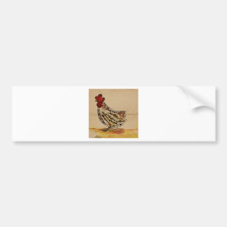 Chicken Vintage Bumper Sticker