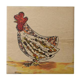Chicken Vintage Ceramic Tiles