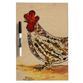 Chicken Vintage Dry Erase Board