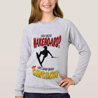 Chicken WAKEBOARD 1 (Black) Sweatshirt