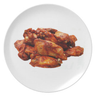 """Chicken Wings"" design plates"