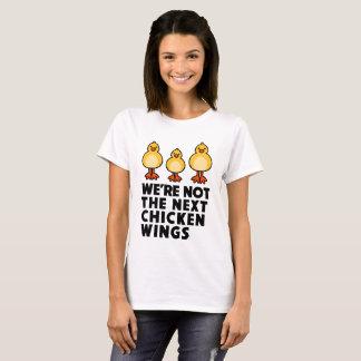 """""""CHICKEN WINGS"""" Veggie Vegan Animal Lovers Tee"""