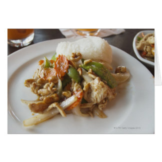 Chicken with Cashews Greeting Cards