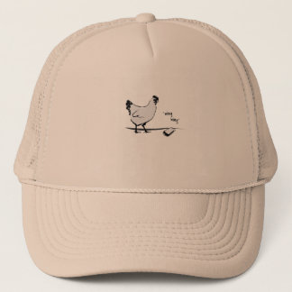 Chicken with Cell Phone Trucker Hat