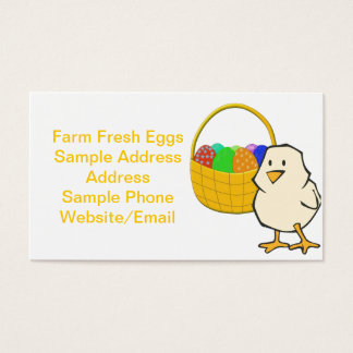 Chicken With Easter Basket Business Card