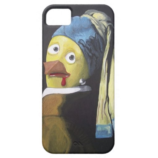 chicken with pearl ear ring iPhone 5 cases