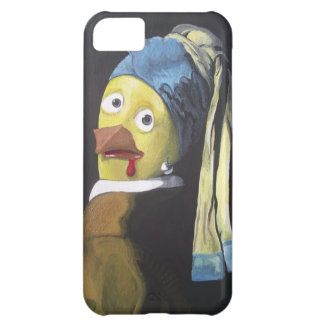 chicken with pearl ear ring case for iPhone 5C