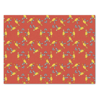 Chickens and Chainsaws Red Tissue Paper