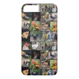 Chickens And Roosters Photo Collage, iPhone 8 Plus/7 Plus Case