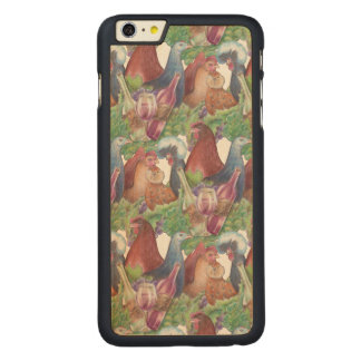 Chickens and Wine Carved Maple iPhone 6 Plus Case