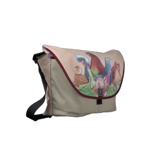 Chickens and Wine Commuter Bag