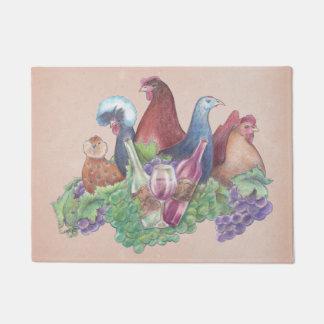 Chickens and Wine Doormat
