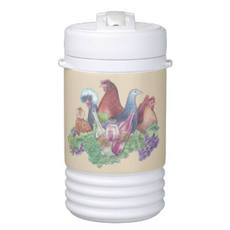 Chickens and Wine Drinks Cooler
