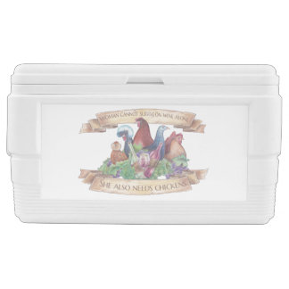 Chickens and Wine Ice Chest