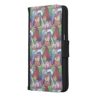 Chickens and Wine Samsung Galaxy S6 Wallet Case