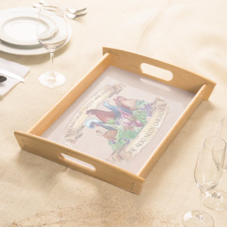 Chickens and Wine Serving Tray