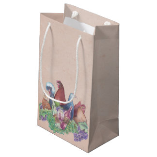 Chickens and Wine Small Gift Bag