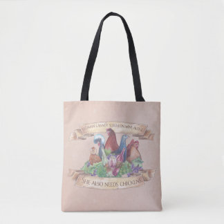 Chickens and Wine Tote Bag