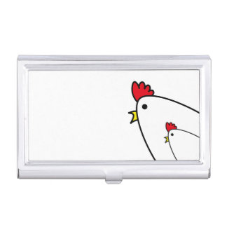 Chickens Business Card Holder