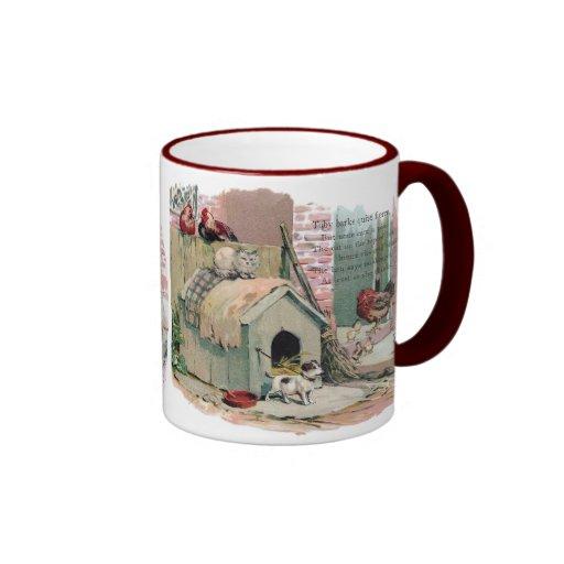 Chickens, Cat and Barking Dog Coffee Mug