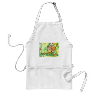 Chickens Hen Birds Watercolor Standard Apron