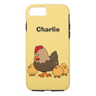 Chickens illustration custom name phone cases