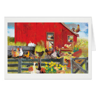 Chickens on the Farm Card