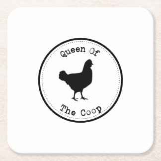 Chickens Pet Lover Funny  s - Chicken s Square Paper Coaster