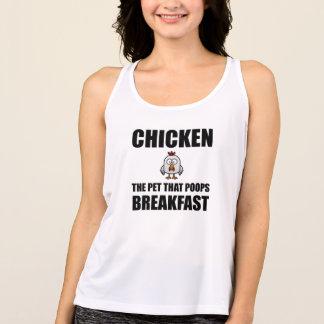 Chickens Poop Breakfast Tank Top