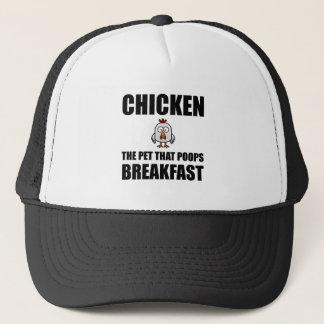 Chickens Poop Breakfast Trucker Hat