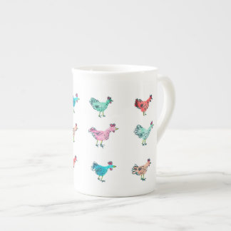chickens tea cup
