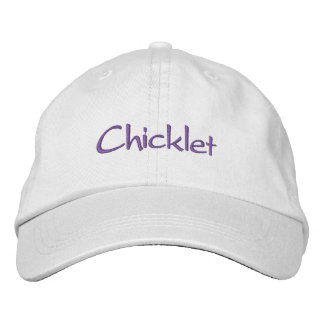 Chicklet s embroidered baseball caps