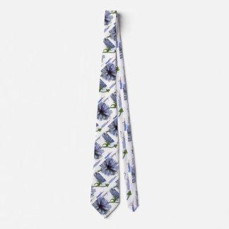 """""""Chickory"""" Flower Garden Neck Tie"""