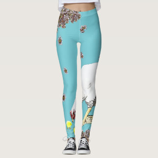 Chicks and A Hen Leggings