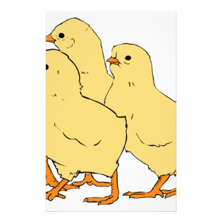 Chicks Cartoon Stationery