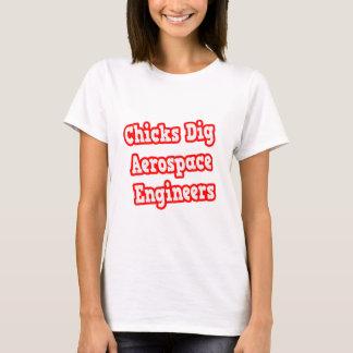Chicks Dig Aerospace Engineers T-Shirt