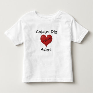 Chicks Dig Scars Toddler T-shirt