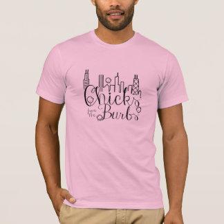 Chicks from the Burbs Long Sleeve 3X Light Pink T-Shirt