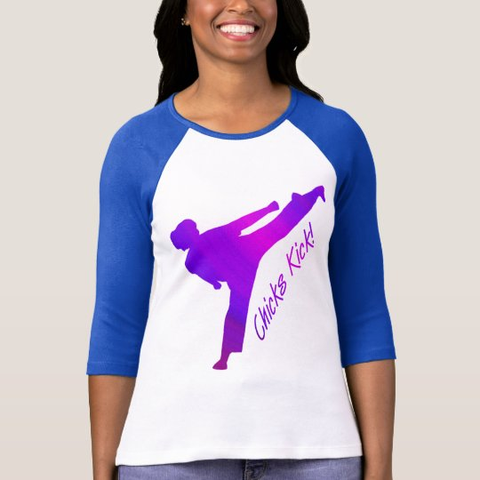 Chicks Kick! purple T-Shirt