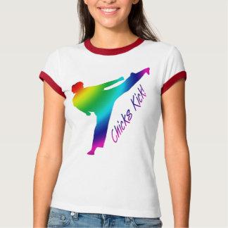 Chicks Kick! rainbow T-Shirt