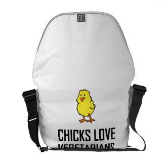 Chicks Love Vegetarians Commuter Bag