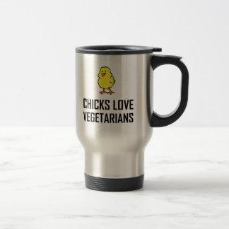 Chicks Love Vegetarians Travel Mug