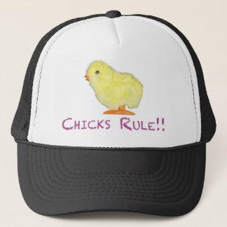 Chicks Rule Side Transparent Trucker Hat