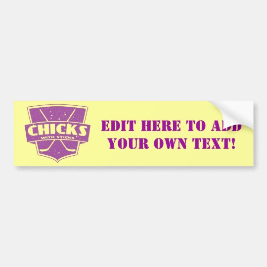 Chicks With Sticks Hockey Bumper Sticker
