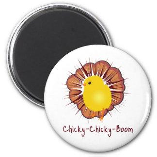 Chicky Boom 2 Inch Round Magnet
