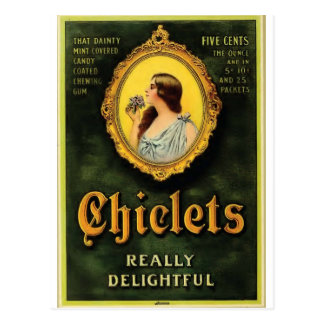 chiclets postcard
