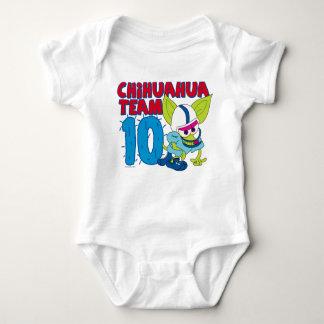 Chico Chihuahua cartoon football team Baby Bodysuit